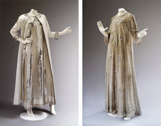 Gowns by Mila Schön from 1966, at the V&A's The Glamour Of Italian Fashion